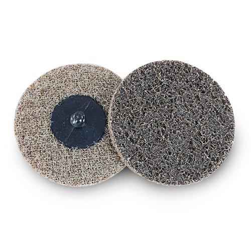3'' Black Hawk Tan Surface Conditioning Quick Change Discs Coarse Prep Pad - 25 Pack