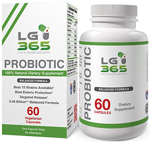 LG365 Probiotics for Women and Men Supplement, Best Proven 7 Strain for (365 Capsules)
