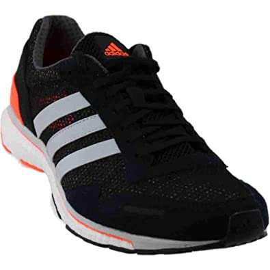 new style cd053 f9ba8 adidas Mens Adizero Adios 3, BlackGreyOrange, ...