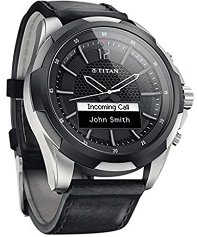 Amazon.com: Titan SmartWatch de titanio con Negro correas de ...