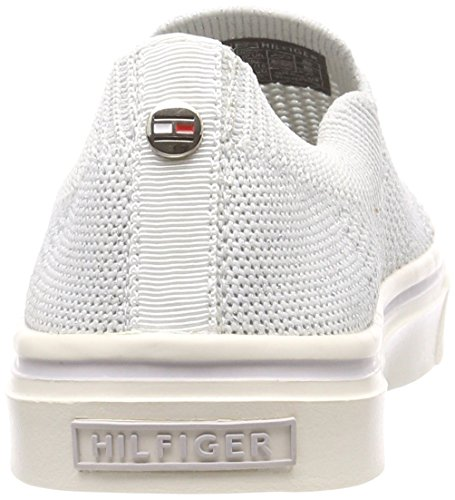 Knitted Basses on Light Blanc Tommy White Slip 100 Sneakers Weight Hilfiger Femme 0xwTEXRq5n