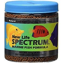 New Life Spectrum Marine Fish Formula 1mm Sinking Pellet Fish Food(Natural Color Enhancing), 125 Gram