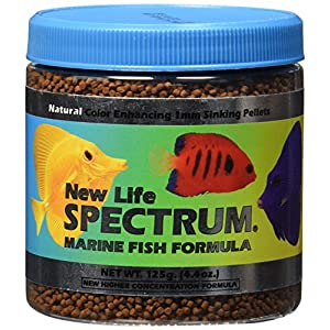 New Life Spectrum Marine Fish Formula 1mm Sinking Pellet Fish Food(Natural Color Enhancing), 125 Gram 75