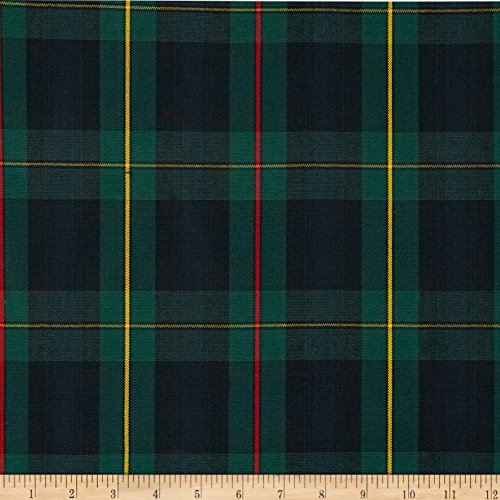 Carr Textile Polyester Uniform Plaid Poplin Fabric by The Yard, ()