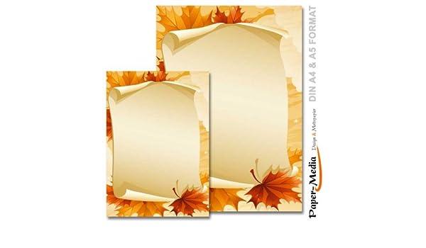 Feuilles de papier à lettres imprimé 100 feuilles a4 & 100 ...