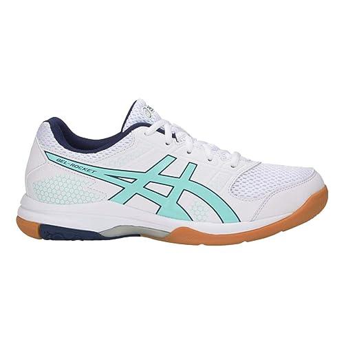 44faf1d506ff8 ASICS Gel Rocket 8 Womens Tennis Shoe (White/ICY Morning): Amazon.ca ...