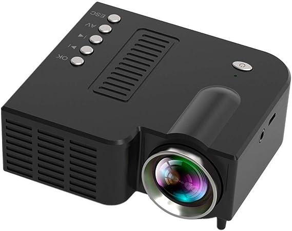 Fercisi Mini Portable LED Projector 1080P Multimedia Home Cinema Theater Video Projectors (Black)