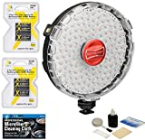 Rotolight NEO On-Camera LED Light + Bundle: 8 AA Rechargeable Batteries + MicroFiber Cleaning Cloth + Digital Camera Cleaning Kit