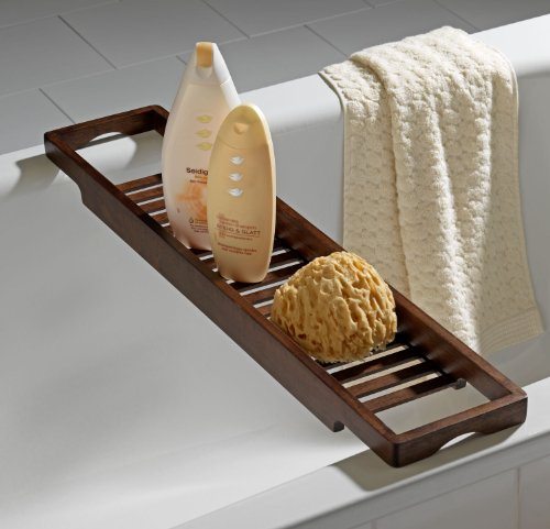 Wenko 17688100 Wooden Bath Tray, Belingo: Amazon.co.uk: Kitchen & Home