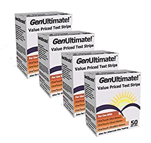 Saving for          GenUltimate! Blood Glucose Strips 200 count- 4boxes of 50