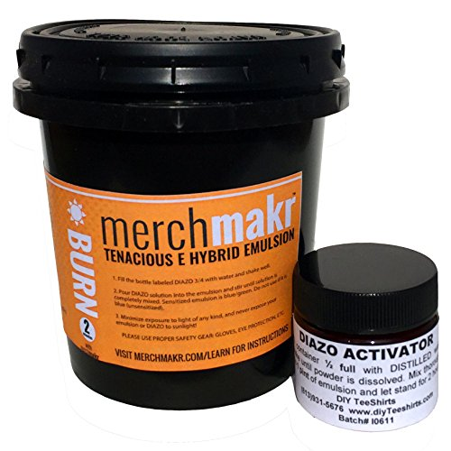 Merchmakr Tenacious E Hybrid Dual Cure Emulsion for Screen Printing with Water-Based Ink (Quart)