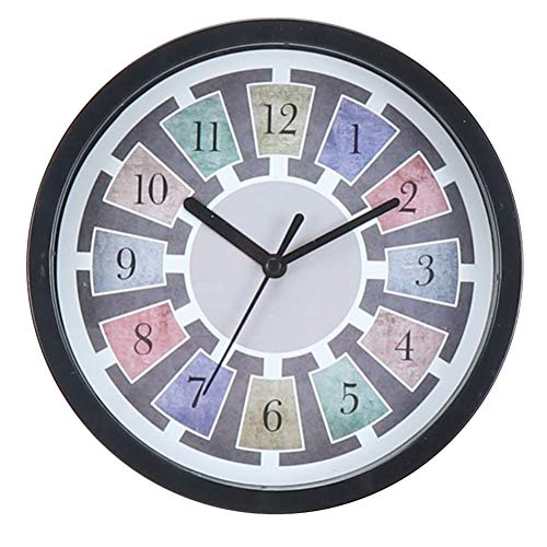 FISDH Platters Slate & Black Roman Number Large Clock - 20cm - Stylish Feature Wall Mounted Design Suitable for The Layout of The Living Room Bedroom Art Clock,D