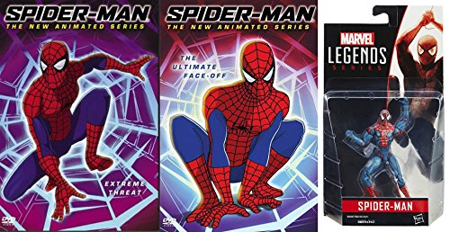 Marvel's Amazing Spider-Man Bundle: The Animated Series: Spider-Man Extreme Threat & The Ultimate Face-Off DVD Bundle W/ Marvel Legends Series Spider-Man Action Figure Amazing Spider Man Tv Series