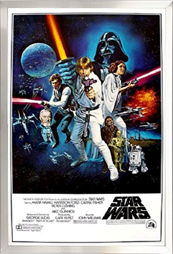 Framed Star Wars: A New Hope Movie   24x36 Poster in Brushe