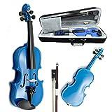SKY Brand New Children's Violin 1/16 Size Blue Color