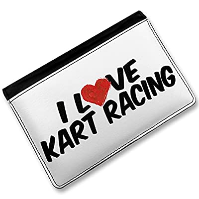 RFID Passport Holder I Love Kart Racing, Cover Case / Wallet - Neonblond
