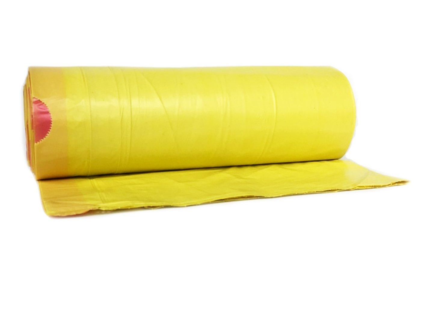 LDPE mit Zugband ✔ Gelb Abfall-S/äcke XXL Abfallbeutel 2 Rollen ✔ Typ 949 hocz 50 x 120 Liter M/üllsack 25er Rolle 50 St/ück M/üllbeutel M/üllsacke 40 /μ rei/ßfest ✔