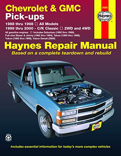2004 Chevy Blazer Parts - Chevrolet & GMC Full-size Pick-ups (88-98) & C/K Classics (99-00) Haynes Repair Manual (Does not include information specific to diesel engines. ... exclusion noted.) (Haynes Repair Manuals)