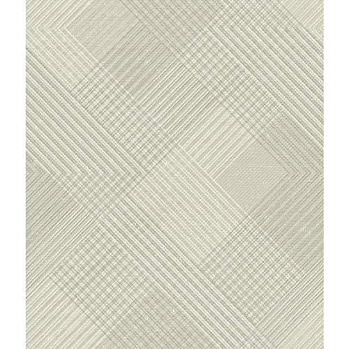 (York Wallcoverings NR1533 Norlander Scandia Plaid Wallpaper Beige)