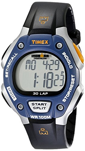 Timex Full-Size Ironman Classic 30 Watch Black/Blue/Silver-Tone (Timer Casual)