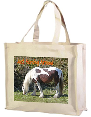 Shopping Skewbald Skewbald Cotton Horse Bag Horse Cotton Cream 57XFwfqnx