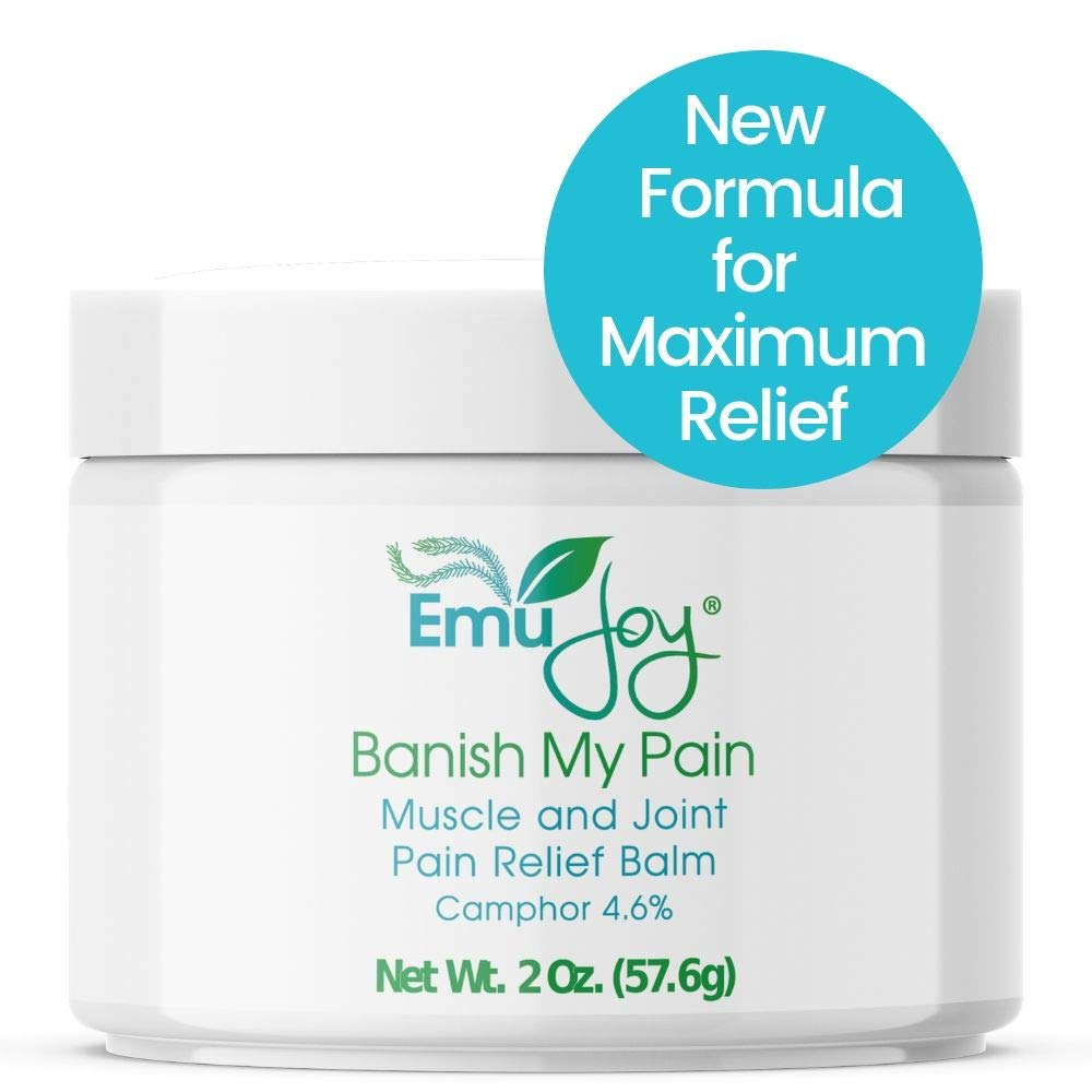 Banish My Pain Emu Oil Pain Relief Cream for Sore Muscles Joint Pain  Arthritis Fibromyalgia Shingles