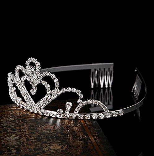 Dairyshop Vintage HandmadeRhinestone Tiara goccia fascia da sposa Accessori per capelli