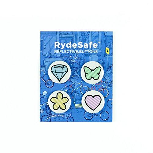 RydeSafe Reflective Buttons - Cuteness - 4 Pack by RydeSafe