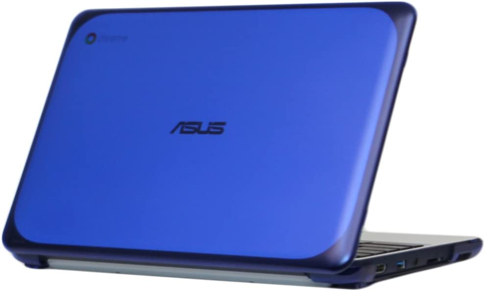 "mCover iPearl Hard Shell Case for 11.6"" ASUS Chromebook C202SA Series Laptop - Blue"