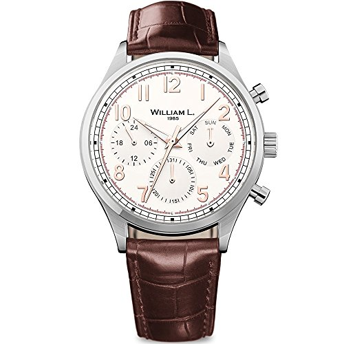Cream Dial Brown Leather - 7