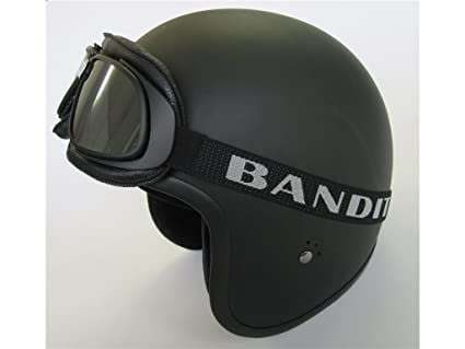 Gafas negras Goggle Bandit Classic Aviator Old Style Lentes Silver specchiate Moto Harley y custom