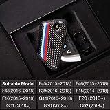 炭素繊維合成皮革 Bmw F15 F16 F20 F45 F46 F48 G30 G11 G01 G02 X5 X6 5 シリーズ古典的なデザインの車のキーケース-Car Key Case