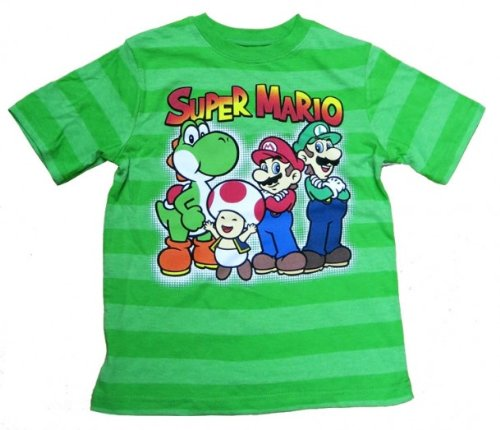Super Mario Group Youth Green T-Shirt (Super Mario Group)