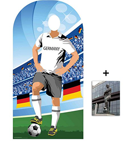 World Cup Football 2018 Germany Lifesize Adult Stand-in Cardboard Cutout Fan Pack, 190cm x 96cm Includes 8x10 Star -