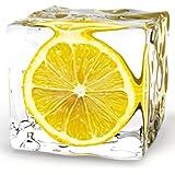 Platin Art Glass Wall Decor Art, Iced Lemon, 8 by 8-Inch