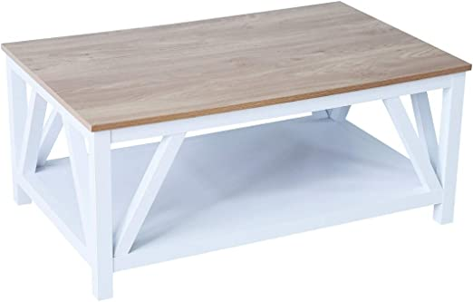 Amazon Com Roomfitters Farmhouse French Country Coffee Table With