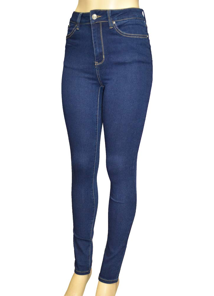 LnLClothing Junior's High Rise Skinny Solid Color Pants, Denim3126, 5