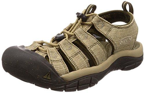 KEEN Men's Newport Retro-M Sandal, Hemp/Dark Olive, 12 M US