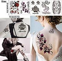 Tatuajes temporales Tatuaje a prueba de agua Flores temporales ...