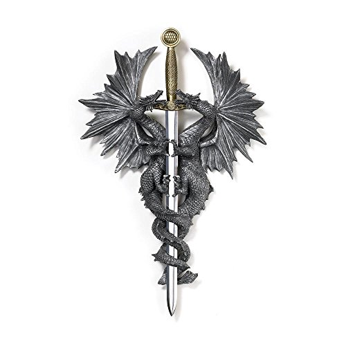 Decorative Wall Mount, Dragon Dagger Living Room Hanging Plaque Home Decor Wall