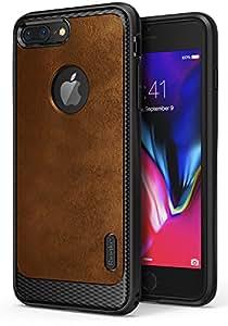 Funda Apple iPhone 7 Plus / iPhone 8 Plus, Ringke [Flex S] Recubierto del Cuero del Estilo Estuche Durable de TPU Avanzada de Protección Contra Golpes Flexible Rústica con Estilo - Brown