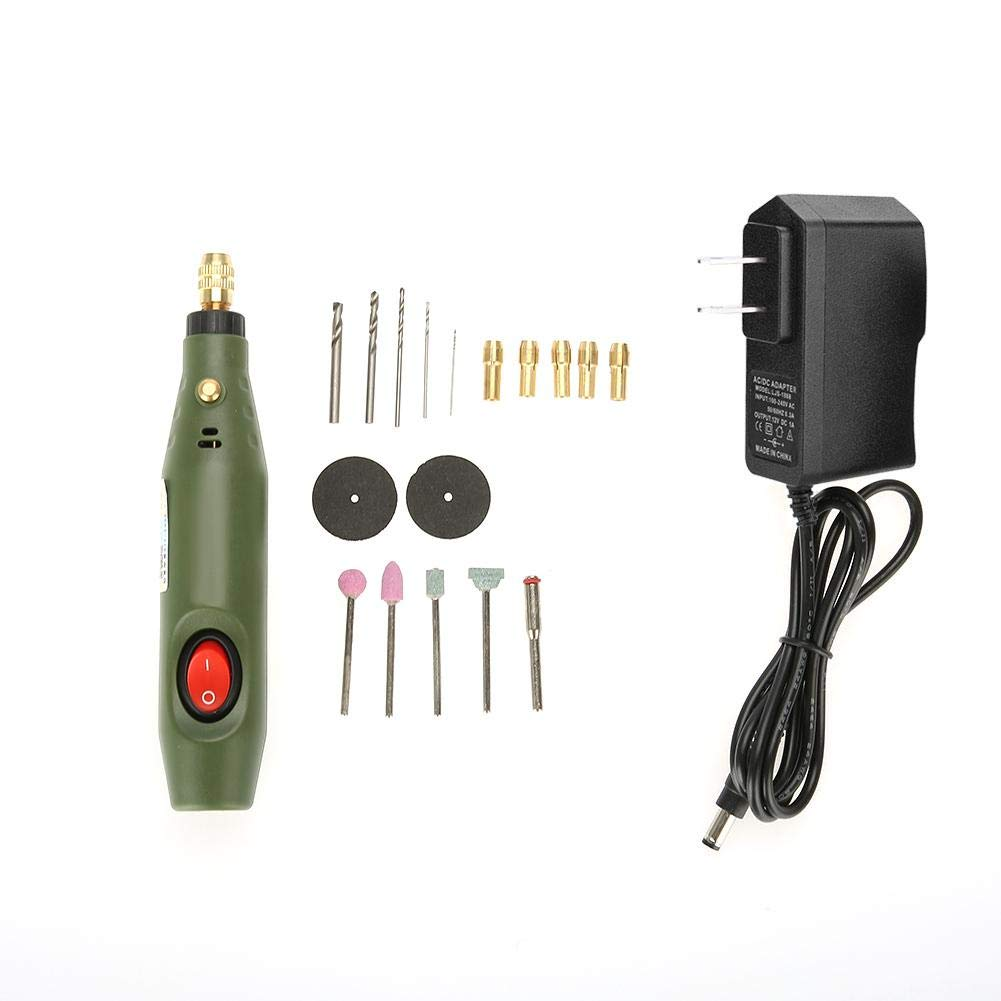 Akozon Mini Drill Rotary Tool Set Drill Grinder Kit Electric Grinding Drilling Polishing Cutting Engraving Tool(US Plug)