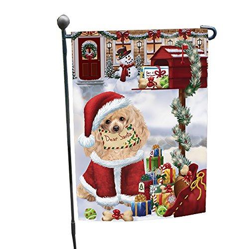 Dear Santa Mailbox Christmas Letter Poodles Dog Garden Flag