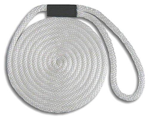 (MadDogProducts Solid Braid Nylon Dock Line - White, 1/2