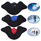 ski masks with vents - EWIN Neoprene Motor Motorcycle Bike Bicycle Skate Snowboard Vent Veil Half Face Mask, 3 Piece
