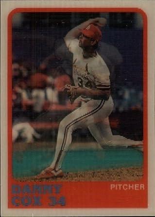 Amazoncom 1988 Sportflics Baseball Card 84 Danny Cox Mint
