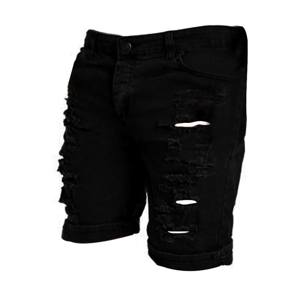 Amazon.com: siviki verano para hombre Casual corto jeans ...