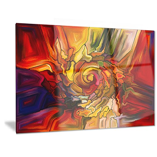 Designart Illusions of Stained Glass - Abstract Metal Wall Art - MT6041 - 28x12 by Design Art