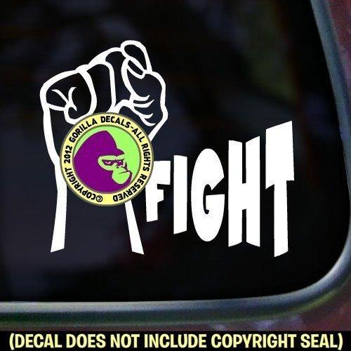 FIGHT FIST Vinyl Decal Sticker A