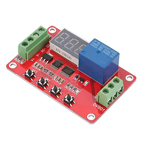 Akozon Digital Window Voltage Comparator 12V/24V Red DVB01 Digital Window Voltage Comparator/Voltage Measurement(24V)
